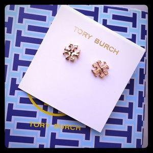 💝NWT TORY BURCH classic gold logo earrings💝